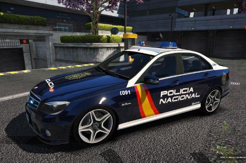 Mercedes C63 AMG Policia Nacional/CNP of Spain/España[FiveM-Replace]