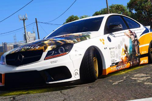 Titanfall Livery for Mercedes C63 LB [Texture]