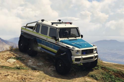 Mercedes G63 6x6 Politia Romana (new design)