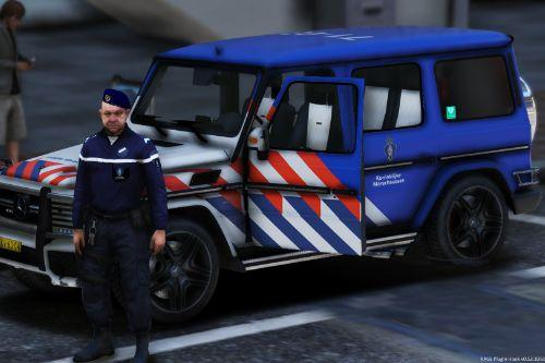 Mercedes G65 Koninklijke Marechaussee (Dutch Royal Military Police) Marked!
