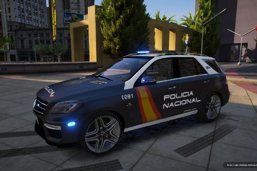 Mercedes ML63 AMG Policia Nacional of Spain/España[FiveM-Replace-ELS]