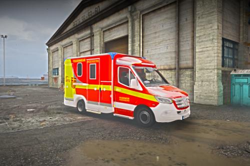 Mercedes RTW Feuerwehr Paderborn (REFLECTIV)