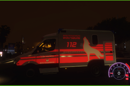 mercedes RTW Feuerwehr Wolfsburg