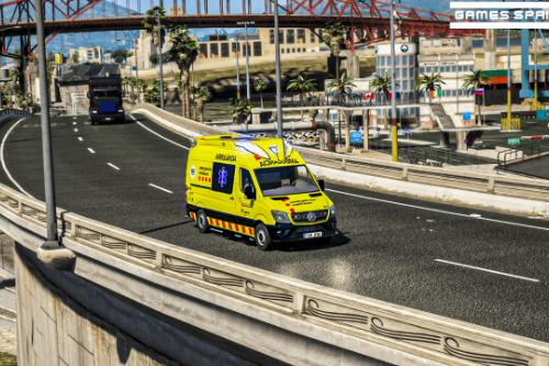 Mercedes Sprinter | SEM | Catalonia | Puente Delfis | LUCES AZULES [ELS]