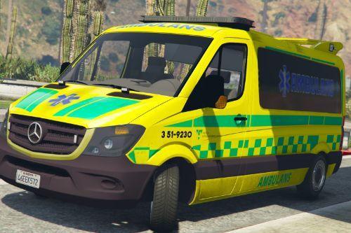 Mercedes Sprinter - Swedish Ambulance [Livery]