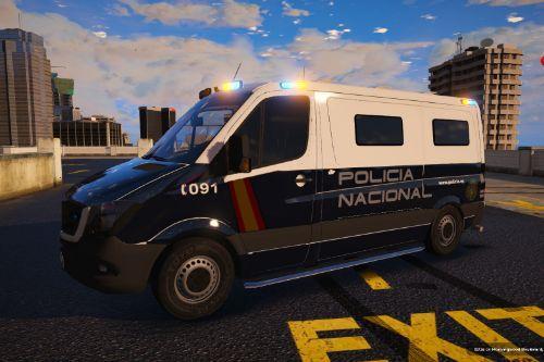 Mercedes Sprinter Unidad Celular Policia Nacional/CNP of Spain/España[FiveM-Replace-Reflective-ELS]