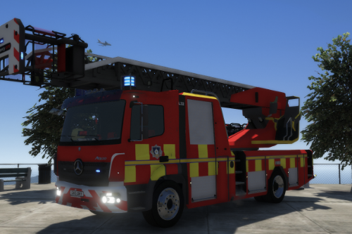 Mercedes Turntable Fire Engine - West Yorkshire Paintjob