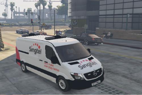 Mercerdes Sprinter Singtel Van