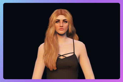 Messy pinned-back long hairstyle for MP Female
