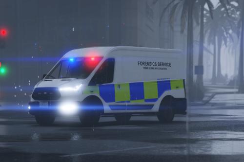 Met Police Forensics Service Van Texture