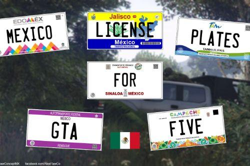 México License Plates [ requires Add-On plates ]
