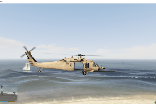 MH-60L Blackhawk desert texture with No Sign