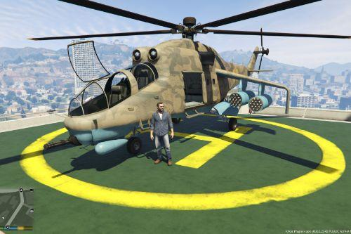 Mi 24 Hind E Retexture for Savage Attack Helicopter