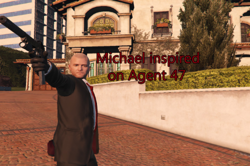 Michael Inspired by Agent 47