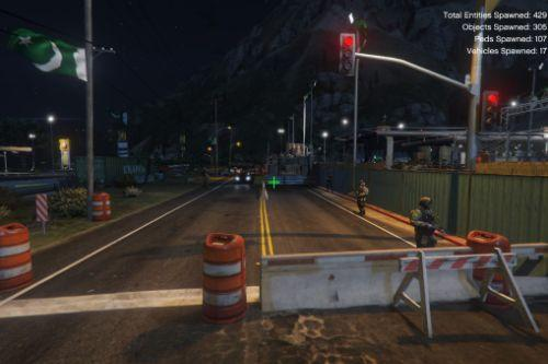 Military base and checkpoint [Menyoo]