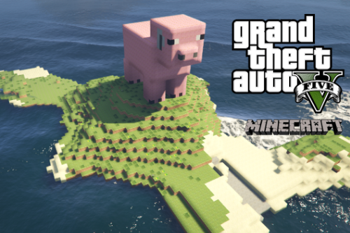 Minecraft Pig Island [Add-On / Replace]