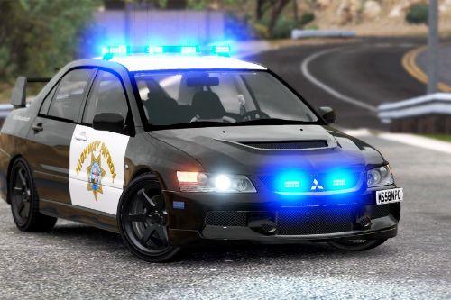 Mitsubishi EVO IX - CHP Highway Patrol Paintjob