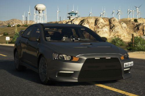Mitsubishi Evo X Unmarked Police Car (Fictional) [ REPLACE | ELS ]