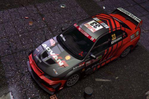 [Mitsubishi Lancer Evo]WRC ADVAN livery
