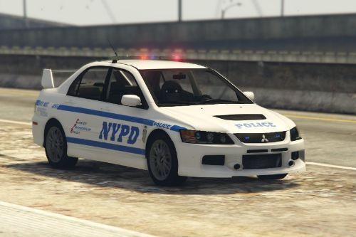 Mitsubishi Lancer Evolution 9 NYPD Highway Patrol texture