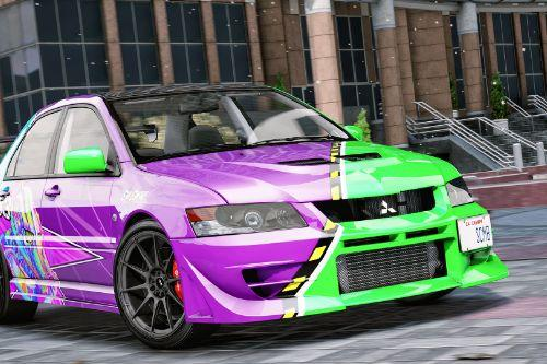 Mitsubishi Lancer Evolution IX Evil Empire Vinyl