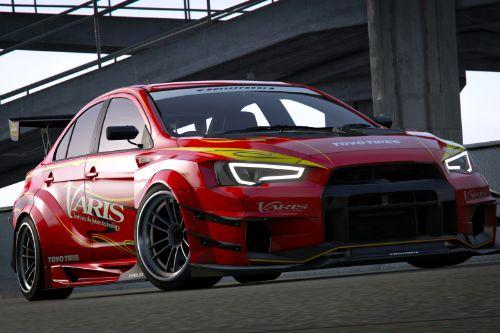 Mitsubishi Lancer Evolution X (CZ4A) (Varis | Team Orange) [Add-On | Template]