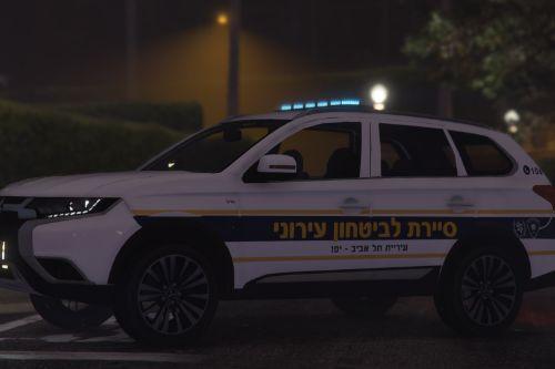 Mitsubishi Outlander 2019 | Israeli Community police Tel Aviv Municipality | שיטור עירוני תל אביב