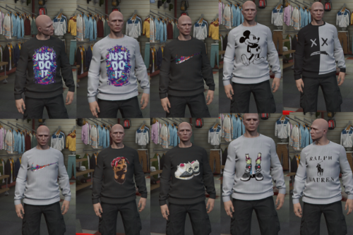 Mixed Sweatshirt Pack (Nike, Vans, Tupac)