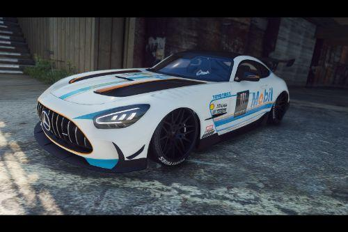Mobil Race Livery for 2020 Mercedes-Benz AMG GT Black Series