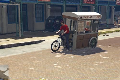 Funny Mobile Food Bike [MENYOO]