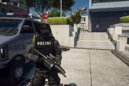 Polisi SWAT Indonesia Skin [Add-On / Replace]