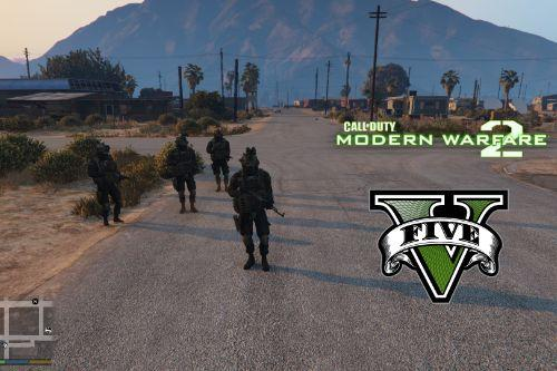 Modern Warfare 2 Shadow Company Squad [Add-On Ped]