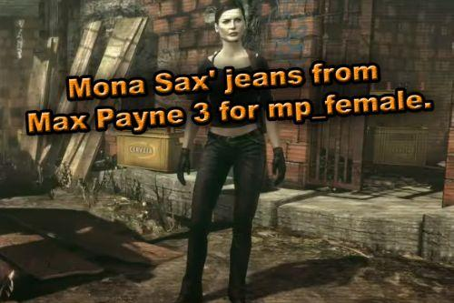 Mona Sax' jeans from Max Payne 3 for MP Female