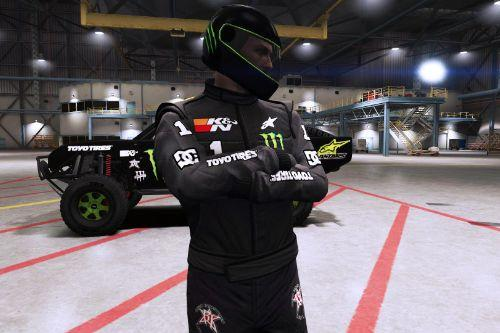 Monster Energy Racing Suit