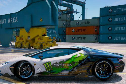 Monster Energy skin for Lambo Centenario (Re-convert)