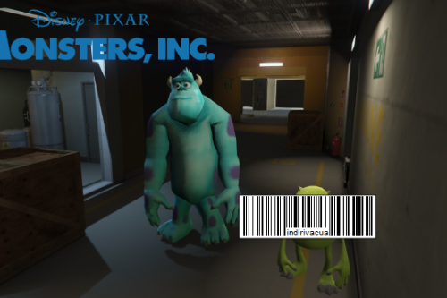 Monsters Inc - Mike & Sully