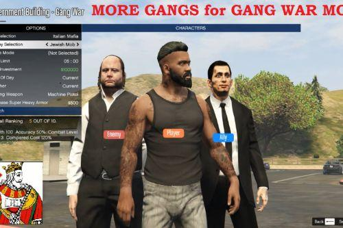 More Gangs Addon for Gang War [.NET] 1.2