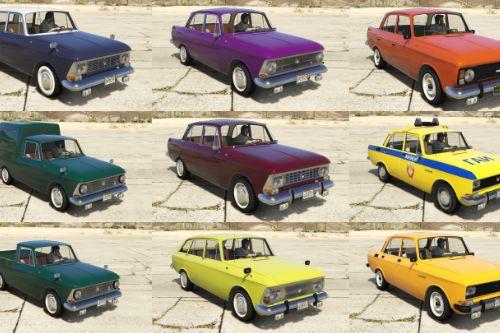 Moskvich cars pack [Add-On | Extras | Tuning]