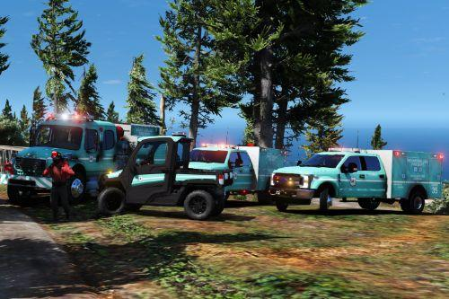 Mount Chilliad Wildfire Response Units Livery Pack