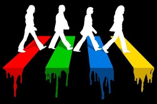 B35733 abbey road in colors l