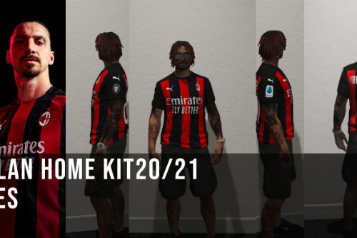 MP AC MILAN HOME FOOTBALL  JERSEY 2020/21 [Fivem Ready]