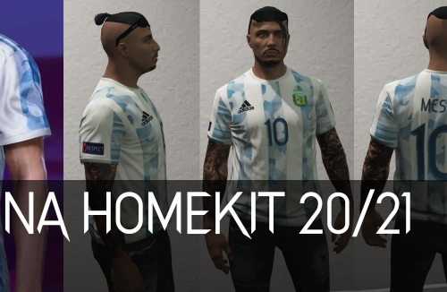 Argentina Home Kit 20/21 for MP Male [SP / FiveM]