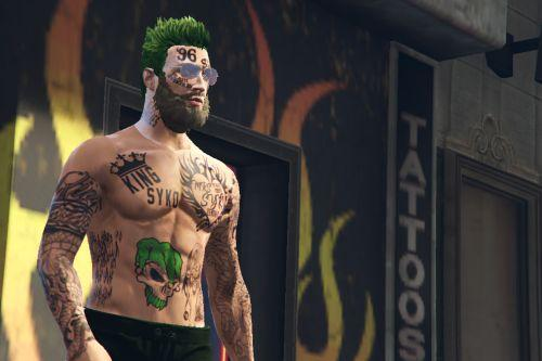 MP Custom Green Jester Tattoo PNG For Male MP Character {STOMACH}