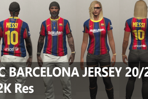 FC Barcelona Football Jersey 20/21 for MP Male / Female [ SP /FiveM]