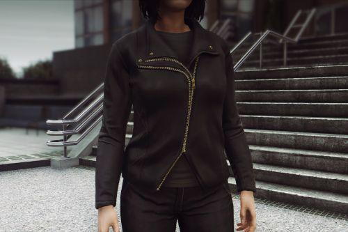 [MP Female] Furless Leather Jacket