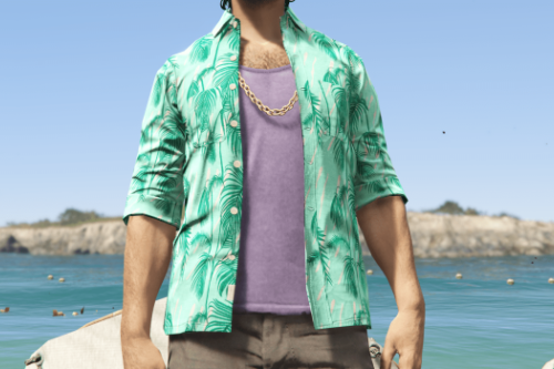 [MP Male] Cayo Perico Hawaiian Shirt Texture Patch
