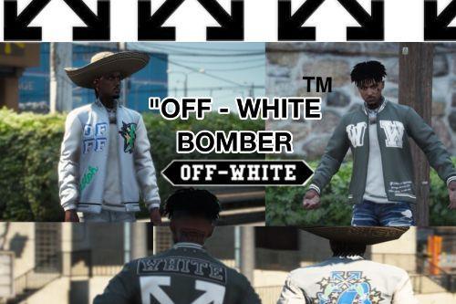 Custom Off White Bomber Jacket for MP Male
