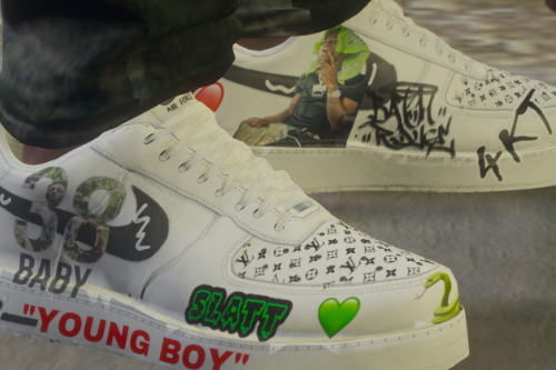 Mp Male Custom NBA Youngboy Air Force 1 Texture