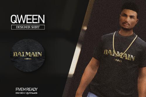 MP - Male Designer Shirt (Balmain Paris) FIVEM READY [QWEEN]