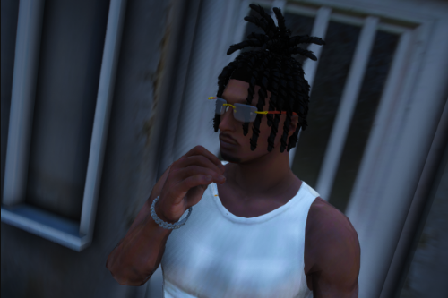 MP Male Dreads with pony tail